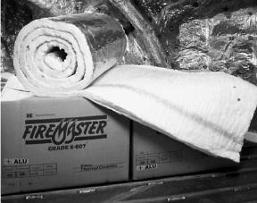 Огнеупорное одеяло (мат) FIREMASTER 607 BLANKET ALU 40